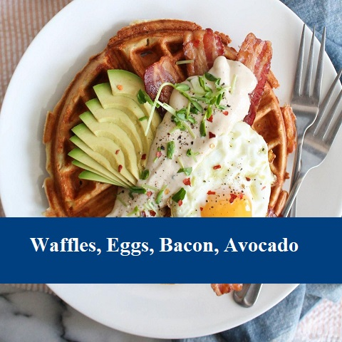 Waffle and Egg Breakfast